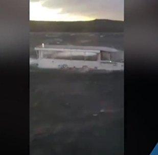 V USA očití svědkové natočili ztroskotání lodi