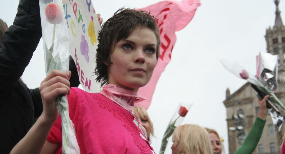 Jedna ze zakladatelek hnutí Femen Oksana Šačko