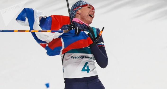 Slovenská biatlonistka Anastasia Kuzminová