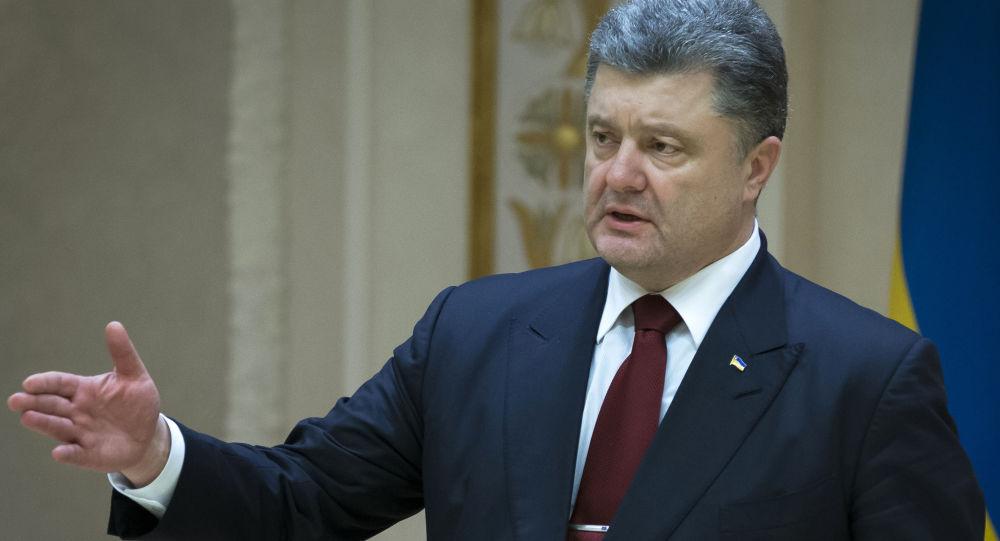 Petro Porošenko v Minsku