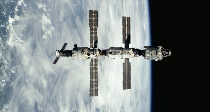 Mezinárodní vesmírná stanice po odpojení s kosmickou lodí Atlantis