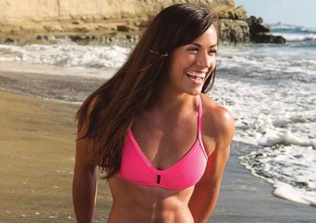 Kanadská fitness lady Camille Leblanc-Bazinet