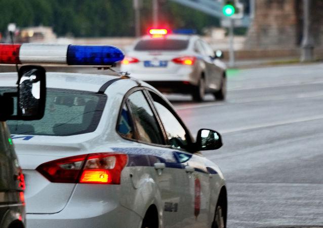 Policejní auto v Moskvě