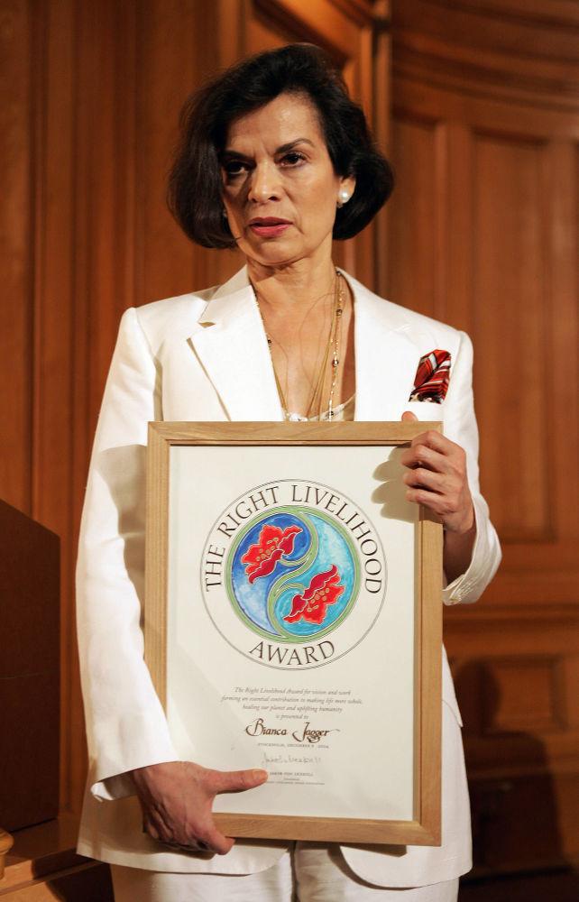 Slavná právnička z Nikaragui Bianca Jaggerová