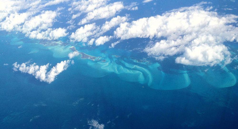 Pohled na Bermudský trojúhelník z letadla