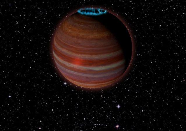 Umělcova představa planety vyvrhele, která se změnila v obrovský magnet