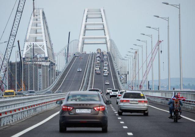 Automobilová část Krymského mostu