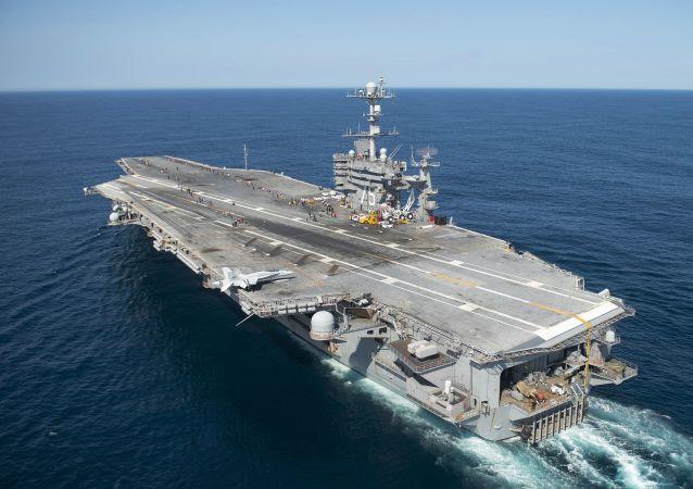 Letadlová loď Harry Truman. Ilustrační foto