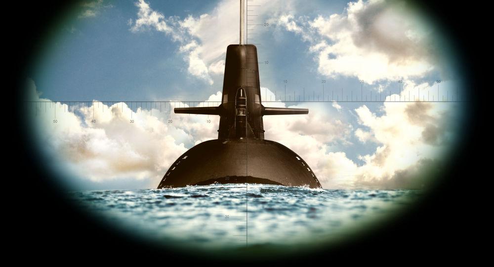 Ponorka přes dalekohled