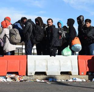 Migranti na hranici Rakouska a Německa. Ilustrační foto