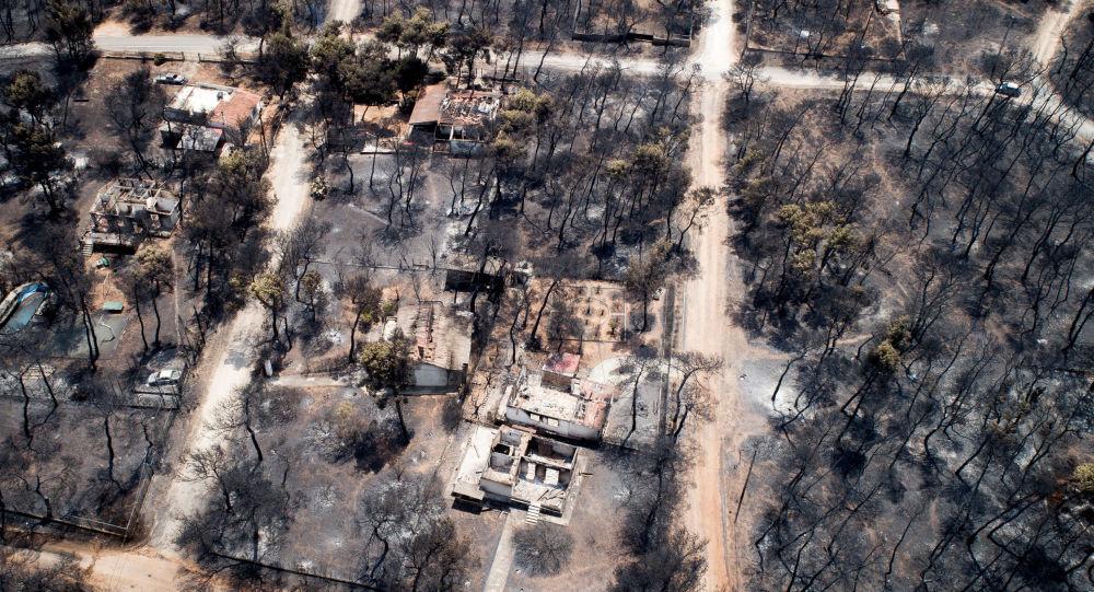 Následky požárů v Řecku