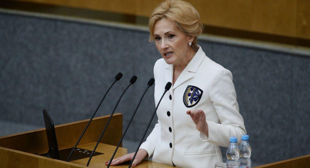 Náměstkyně předsedy Státní dumy Irina Jarovaja