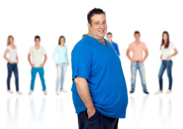 Muž s nadváhou