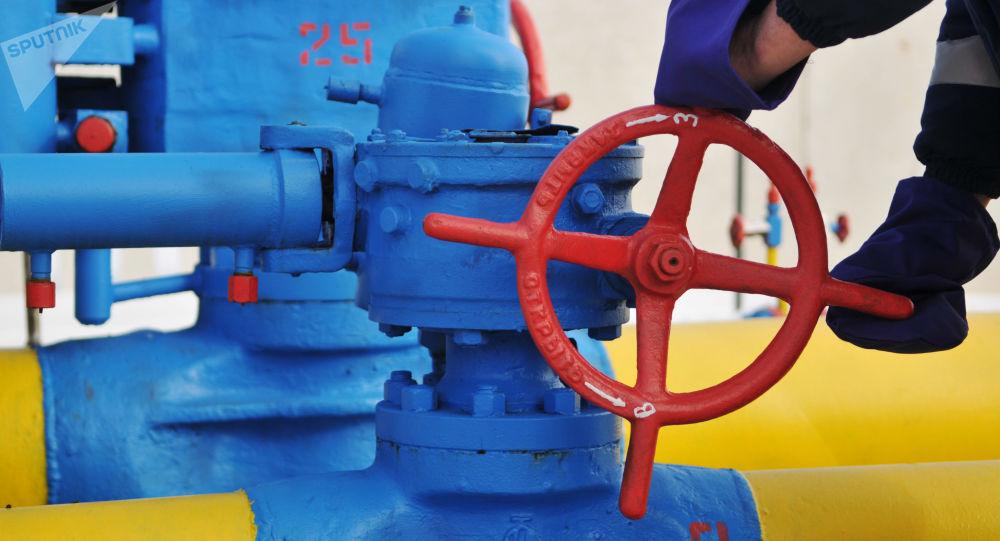Ventil na plynovodou na Ukrajině. Ilustrační foto