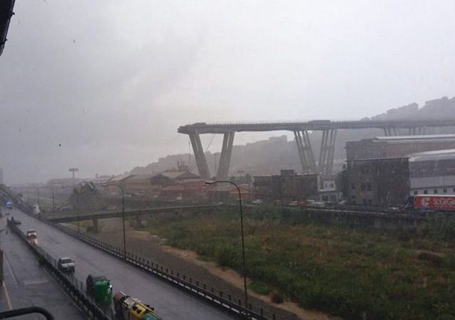 Zřícený most u Janova, Itálie