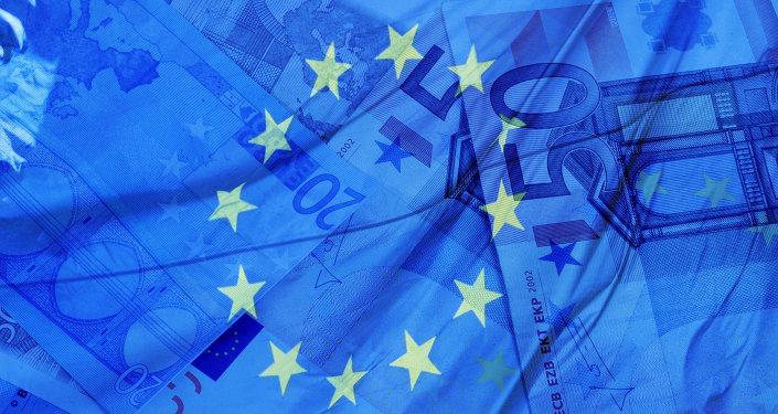 Eurobankovky a vlajka EU