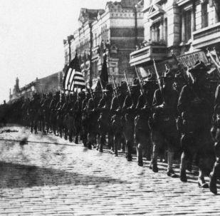 Americká vojska ve Vladivostoku na jaře 1918
