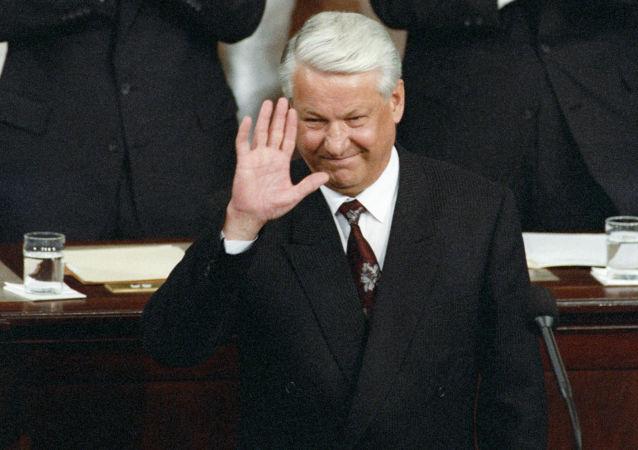 Bývalý ruský prezident Boris Jelcin v Kongresu USA, 1992