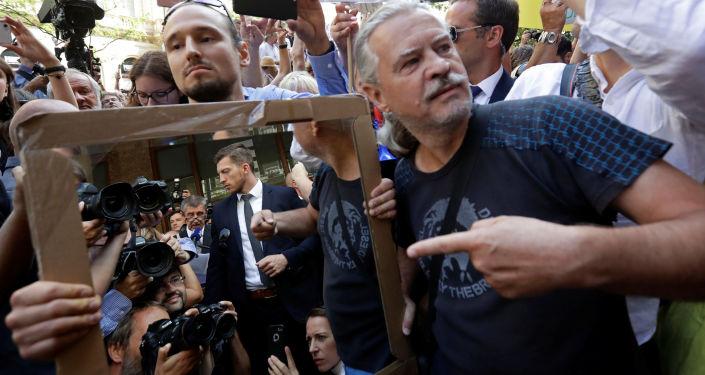 Protest proti Andreji Babišovi 21. srpna 2018
