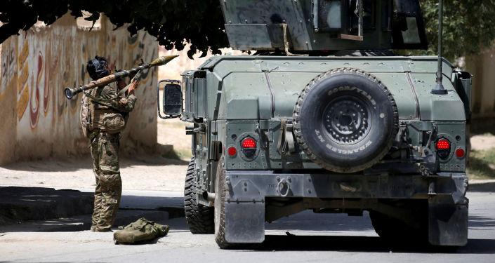 Afghánské bezpečnostní síly v Kábulu