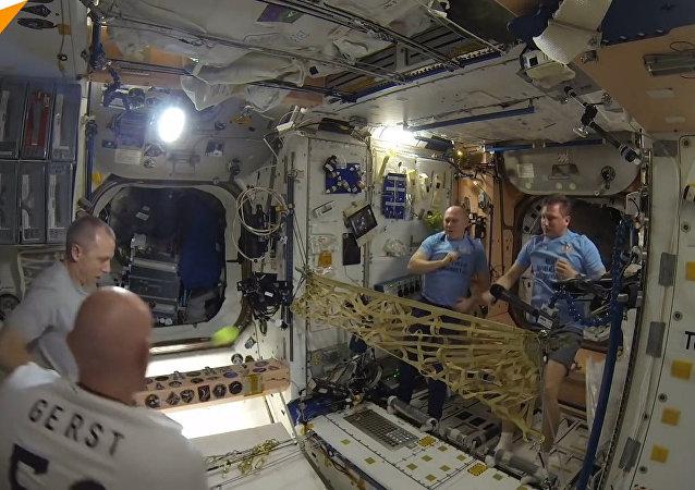 Tenis na palubě ISS