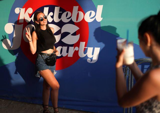 Návštěvníci festivalu Koktebel Jazz Party 2018