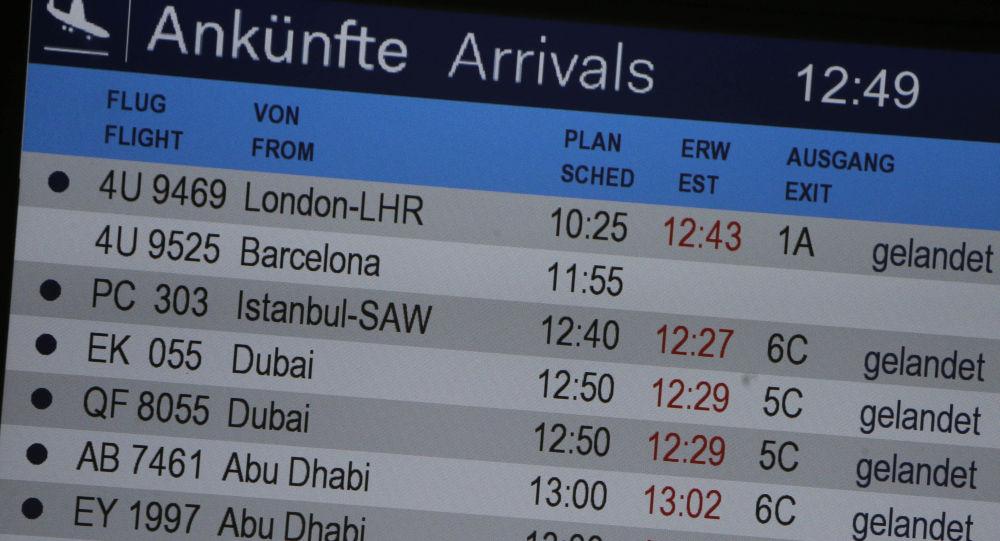 Na letišti v Düsseldorfu