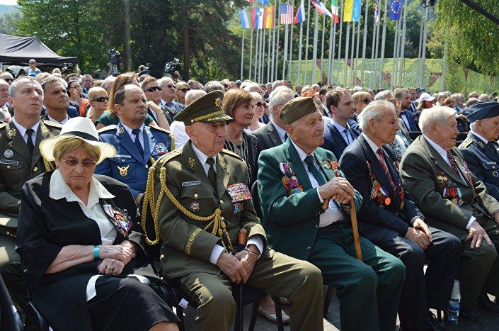 Účastníci oslav SNP