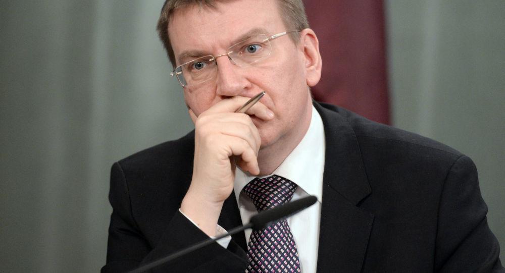 lotyšský ministr zahraničí Edgars Rinkēvičs