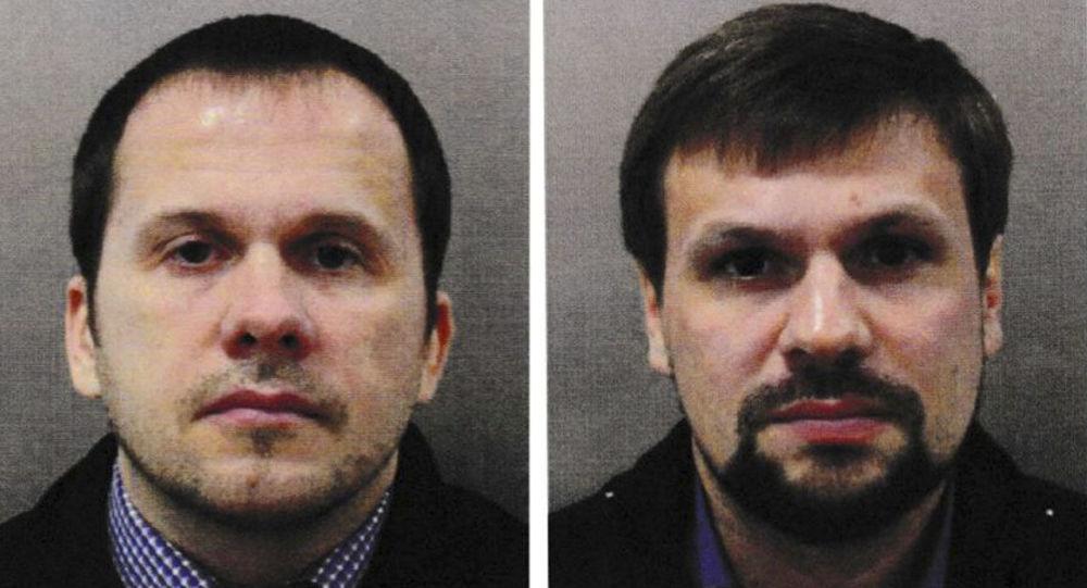 Ruslan Boširov a Alexandr Petrov, které Bitánie podezřívá z otravy Skripalových