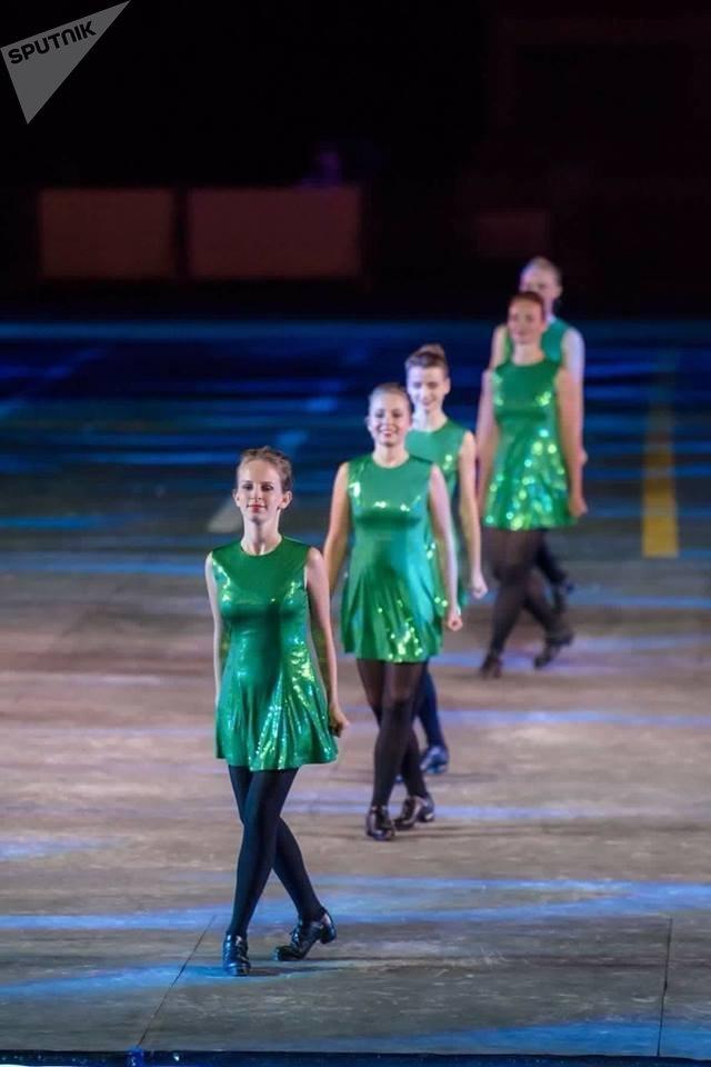 Mezinárodní skupina irských tanců na festivalu Spasská věž 2018