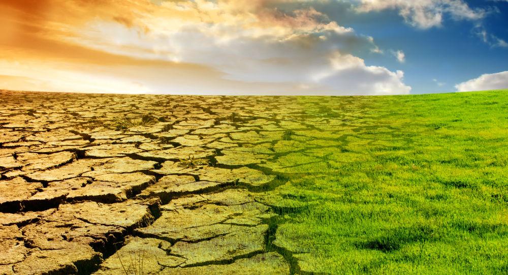 Vizualizace globálního oteplování. Ilustrační foto