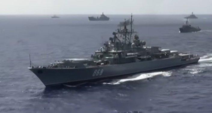 Bylo zveřejněno video společných cvičení ruského námořnictva a VKS ve Středozemním moři