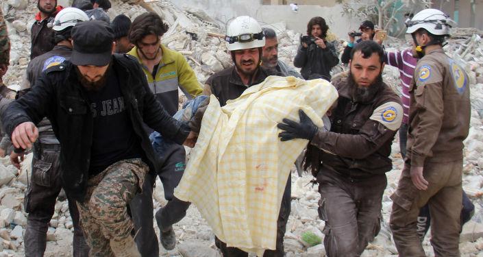 Aktivisté Bílých přileb v Idlibu