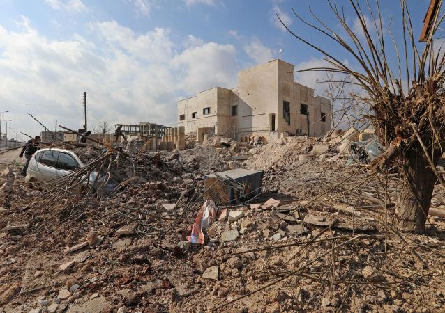 Nemocnice v Idlibu (Sýrie) zničená v důsledku leteckého útoku