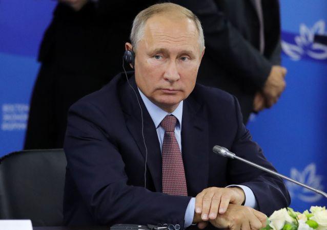 Ruský prezident Vladimir Putin na čtvrtém Východním ekonomickém fóru.