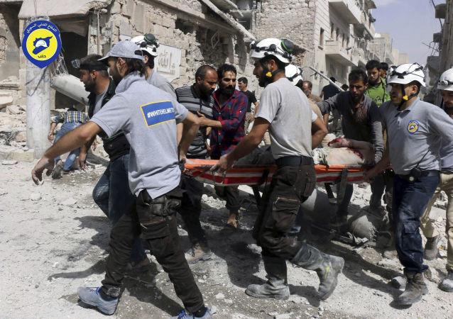 Aktivisté Bílých přileb v Sýrii