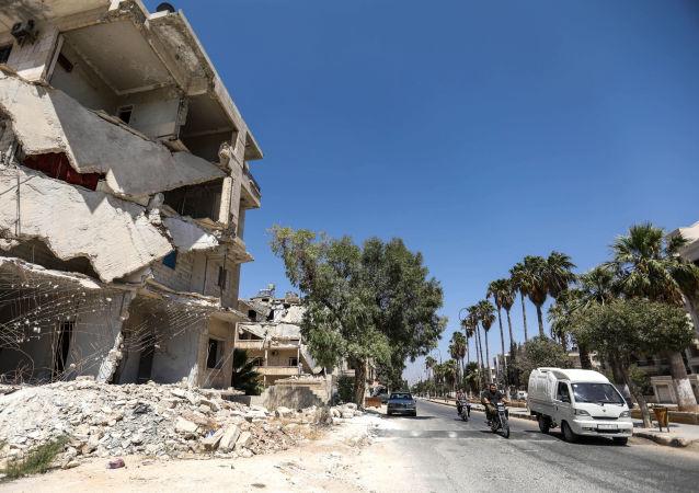 Zříceniny v Idlibu, Sýrie