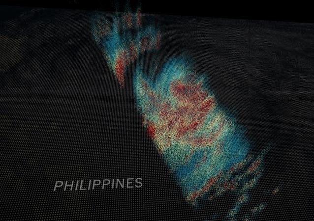 NASA ukázala 3D fotografii tajfunu Mangkhut z vesmíru