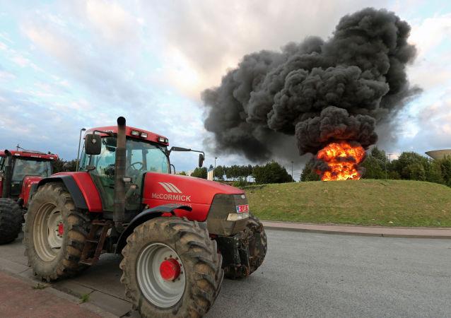Protesty farmářů v Belgii