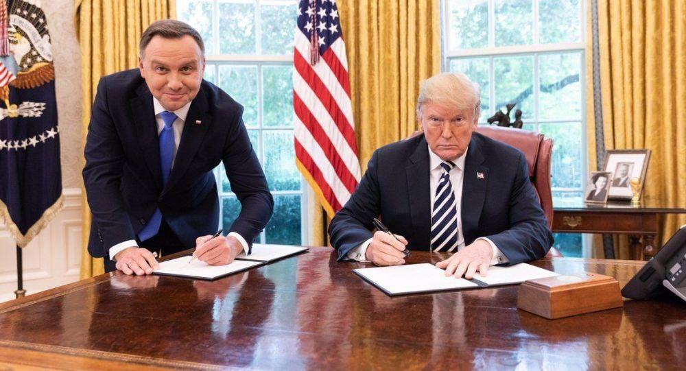 Polský prezident Andrzej Duda a americký prezident Donald Trump