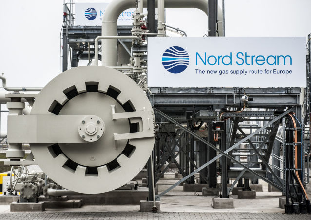 Úsek plynovodu  Severní proud v německém Lubminu