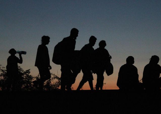 Skupina běženců