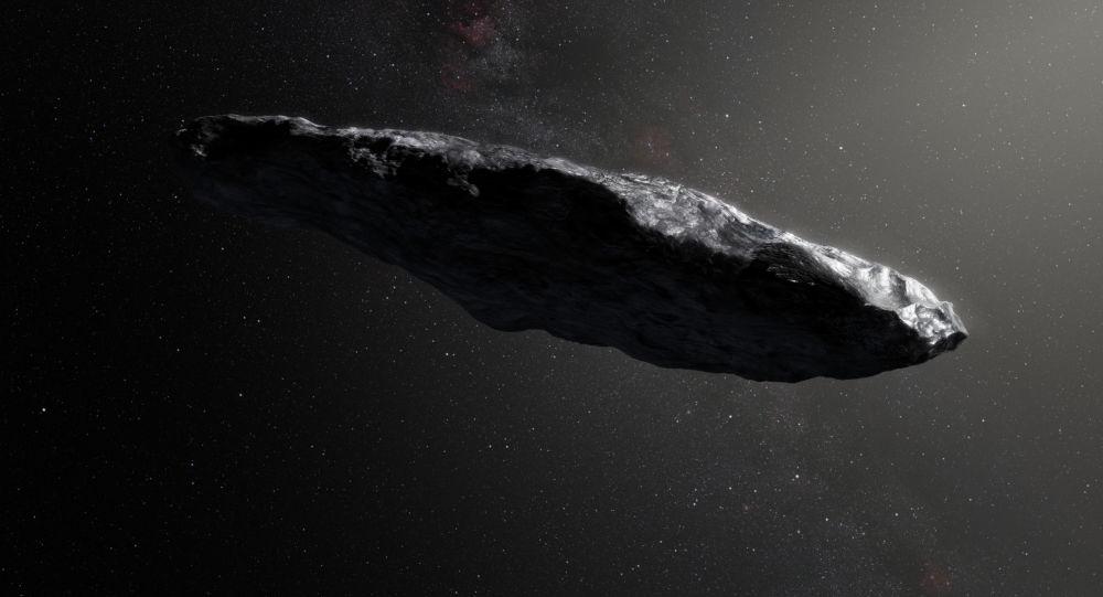 Umělecká podoba planetky Oumuamua