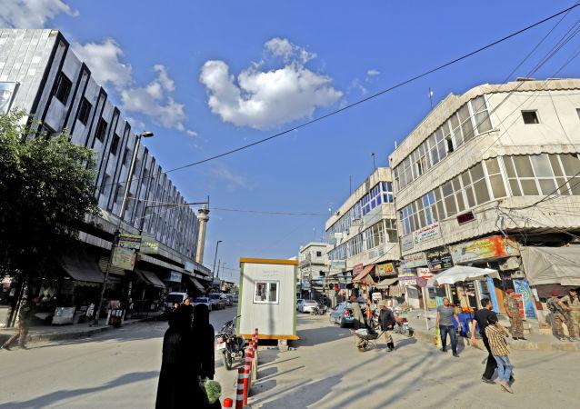 Syrské město Manbidž