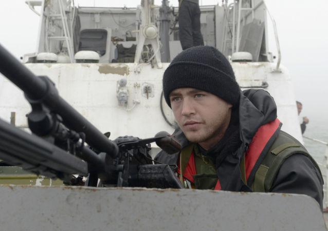 Ukrajinský pohraničník. Azovské moře
