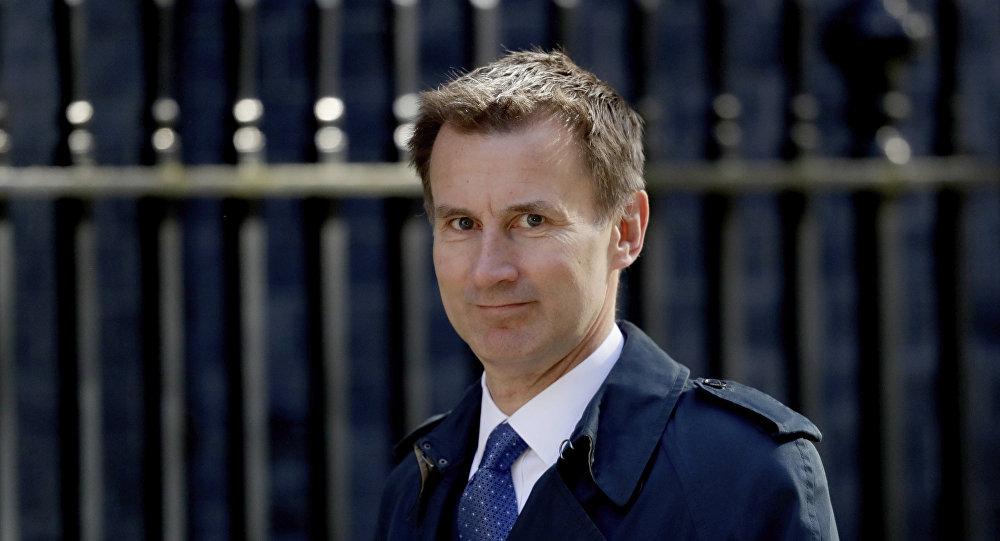 Britský ministr zahraničí Jeremy Hunt