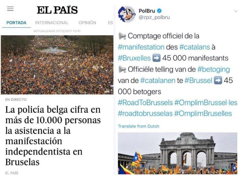 Screenshot článku v El Pais a zprávy na Twitteru