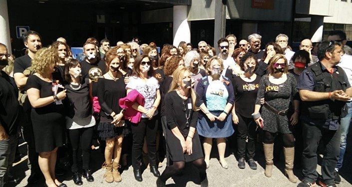 Protestní akce TVE