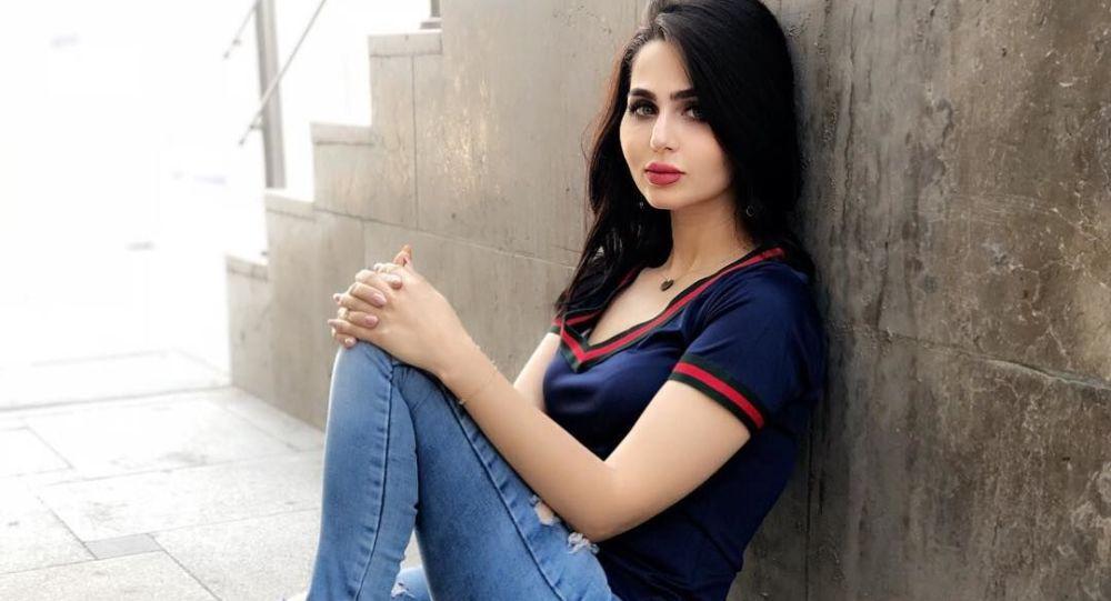 Bývalá nositelka titulu Miss Irák Shimaa Qasim